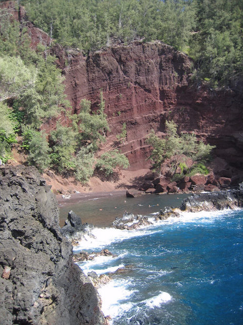 Red Sand Beach or Kaihalulu